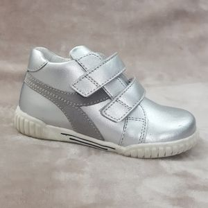 GREENIES Kids Boys Shoes Leather Silver Sz 8.5 USA